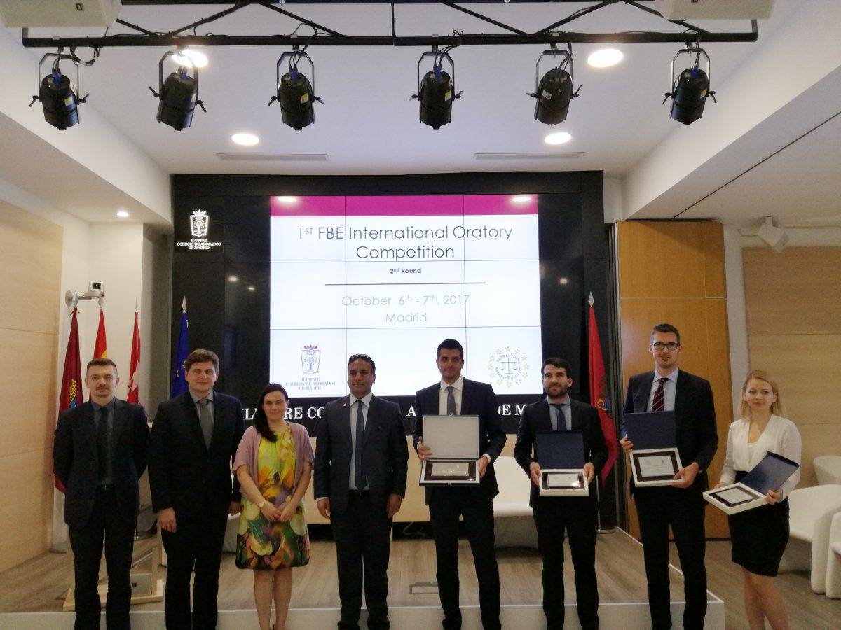 FBE INTERNATIONAL ORATORY COMPETITION – Madrid Bar Association