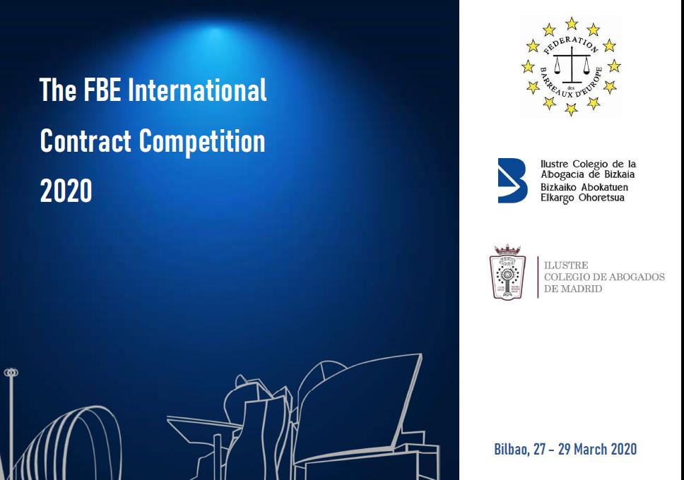 FBE International Contract Competition 2020 – Bilbao, 27-29 March 2020