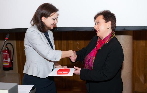 MONIQUE STENGEL, FBE TREASURER and HUMAN RIGHTS COMMISSION MEMBER AWARDED