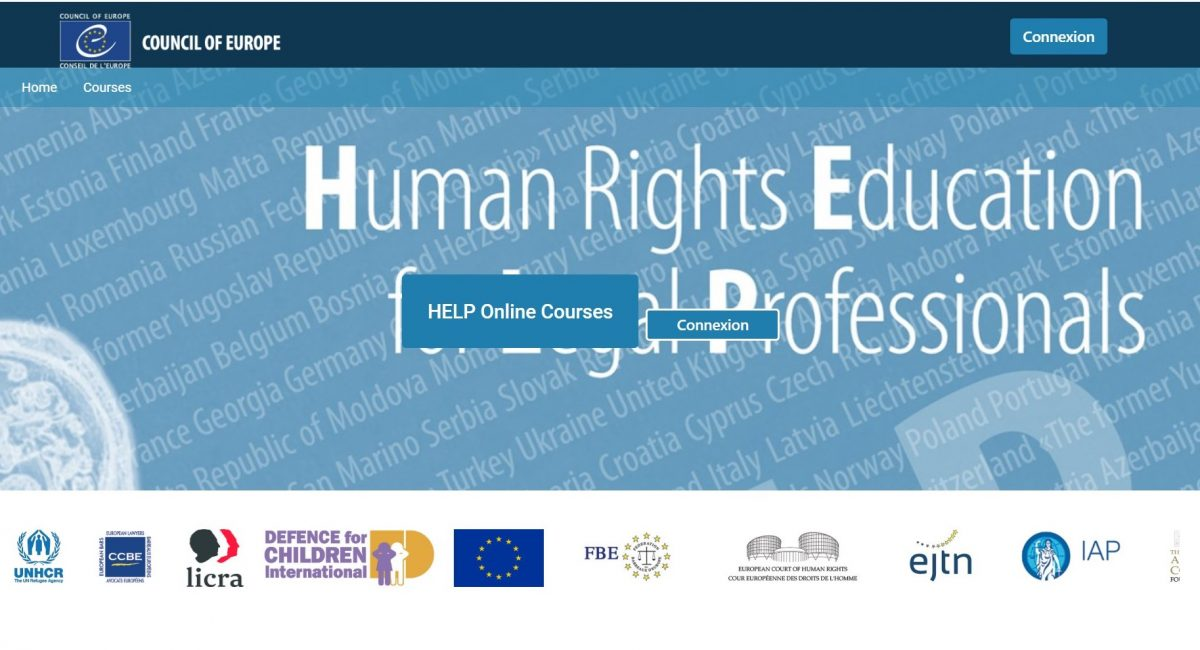 Human Rights Education for Legal Professionals – HELP online courses