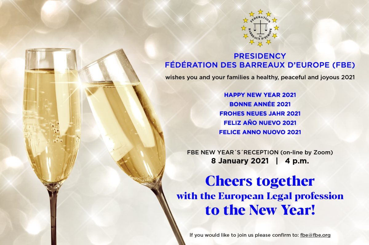 FBE NEW YEAR'S RECEPTION (online by Zoom) – 8 January 2021 at 4 p.m