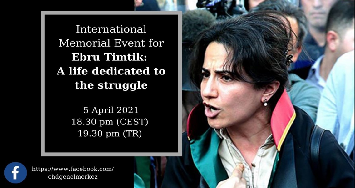 FBE HUMAN RIGHTS COMMISSION – International Memorial Event for EBRU TIMTIC