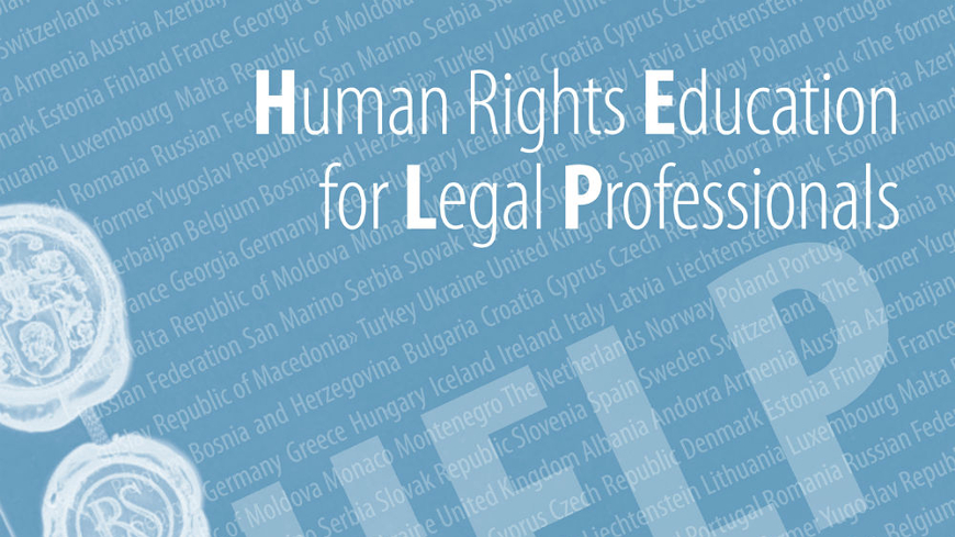 Council of Europe HELP online course on The Environment and Human Rights